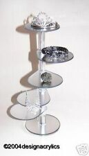Frosted Mirror Acrylic Fascinator Gem Jewellery Display