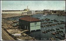 Alger argel ~ 1910 Sport nautique barco de vela puerto ak vintage Postcard África