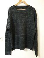 All Saints Unusual Pattern Wool Mix Jumper Top Size L