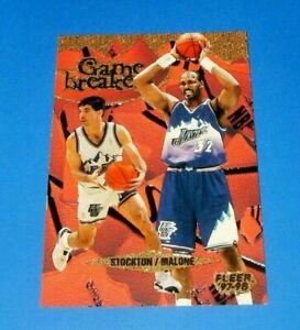 1997-98 Fleer Game Breakers John Stockton Karl Malone #11 of 12 Utah Jazz