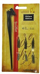 Speedball 2968 Oblique Pen Set
