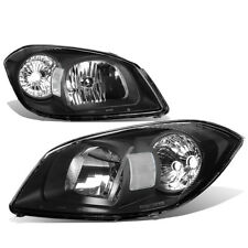 Fit 05-10 Chevy Cobalt/G5 Black Housing Headlight+Clear Lens Side Corner Light