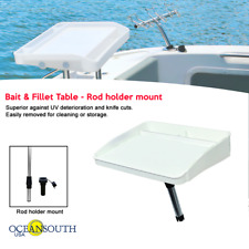 Oceansouth Bait & Fillet Table Rod Holder Mount - Boat / Fishing / Cutting