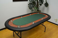 "72"" Texas Holdem Poker Table Folding Legs Green Felt"