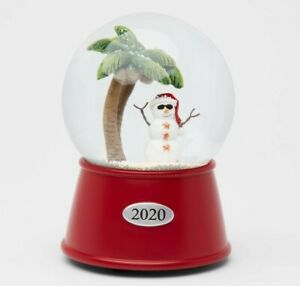 2020 Snowman on the Beach Musical Snowglobe Water Globe Xmas Holiday