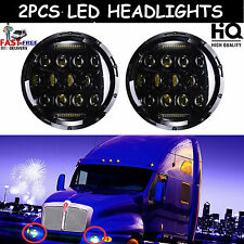 """7"""" LED Headlight For Kenworth T2000 T-2000 1998-2010 Tractor Trailer Truck Lamps"""