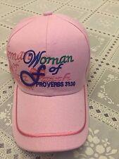 "CHRISTIAN BALL CAP ""WOMAN OF FAITH PROVERBS 31:30""  BIN 6"