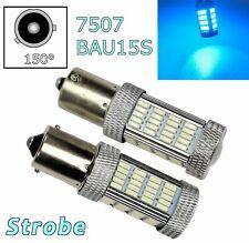 Strobe Ice Blue Rear Turn Signal Light BAU15S 7507 PY21W 92 LED Bulb Lamp A1 LAX