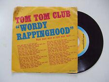 "Tom Tom Club – Wordy Rappinghood - Disco Vinile 45 Giri 7"" Stampa ITALIA 1981"