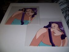 Rare Photon Anime Cel Set of 2 - Keyne Bath Towel - Animation Original Art