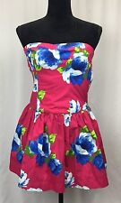 NWT Gilly Hicks Sydney Pink Floral Strapless Dress Size S