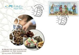 TURKEY / 2020 (FDC) - CUSTOMS OF RAMADAN, (Hacivat, Karagoz, Feast)