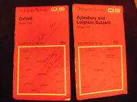 Ordnance Survey Landranger Map Sheet 164 165 Oxford/Aylesbury & Leighton Buzzard