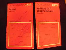 Ordnance Survey Landranger Map Sheet 164 165 Oxford/Aylesbury & Leighton Buzzard