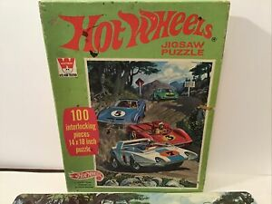 Vintage 1970 Whitman Hot Wheels Puzzle Complete Ken Snyder