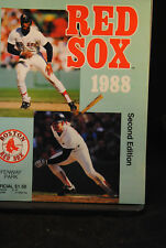 FIVE 1988 2ND EDITION RED SOX PROGRAMS SCORECARDS YANKEES TWINS RANGERS INDIANS