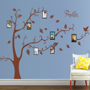 Large Family Are Forever Wall Sticker Photo Frame Removable DIY Room Decal