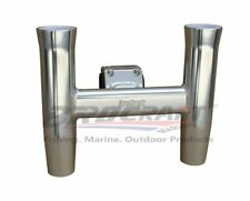 BroCraft Aluminum Clamp - On Twin Fishing Rod holder / Boat T-TOP Rod Holder