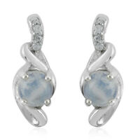 925 Sterling Silver Rainbow Moonstone Zircon Drop Dangle Earrings Gift Ct 1.3