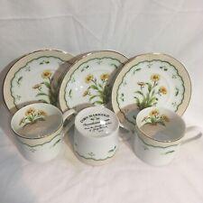 Vintage Georges Briard Victorian gardens porcelain 6 flowers Corn Marigold