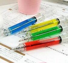 2pcs Needle Tube Injection Tubing Style Ball Point Pen Ballpen Writing F02D