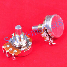 2pcs B100K OHM Linear Round Shaft 24mm Potentiometer R24 Pot Guitar Tube Amp