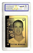2003 NFL PEYTON MANNING Indianapolis Colts 23K GOLD CARD Graded 10
