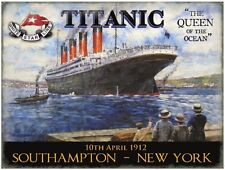 New 15x20cm White Star Line Titanic reproduction vintage metal advertising sign