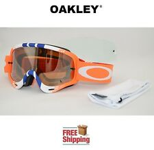 OAKLEY® O-FRAME® GOGGLES MX ATV MOTOCROSS MOTORCYCLE PINNED ORANGE BLUE + BONUS