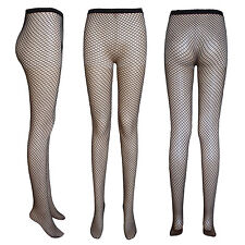 Ladies fishnet tights medium nets black white red passion pink yellow M / XL