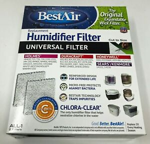Best Air Universal Humidifier Filter Cut to size ALL-1 Brand New In Box 2 Filter