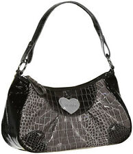 XOXO City Love Reptile Embossed Shoulder Bag