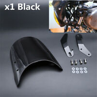 """Universal Fitting for 5""""&7""""Round Headlights Motorcycle Windshield Windscreen Kit"""