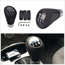 5Speed Manual Transmission Vehicle Leather Gear Stick Shift Knob Cover&3 Adapter