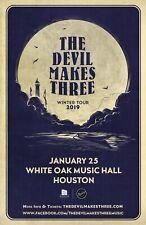 "THE DEVIL MAKES THREE ""WINTER TOUR 2019"" HOUSTON CONCERT POSTER- Americana Music"