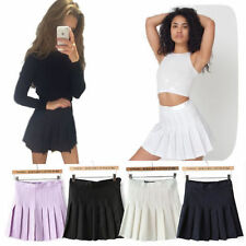 Cotton Pleated Mini Skirts for Women