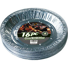16 x REDONDO ALUMINIO METALIZADO Catering Para Servir Barbacoa platos (159mm