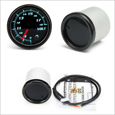 High Accuracy LCD Digital 3-in-1 Car Water Thermometers Voltmeters and Oil Pressure Meters Alarm Reminding Plastic Shell M10 Temperature Sensor 1//8 NPT Oil Pressure sensor Easy Installation 12V// 24V