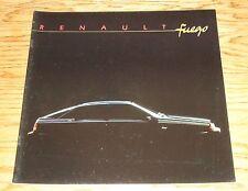 Original 1985 Renault Fuego Sales Brochure 85