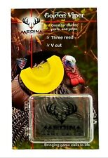 Medina Game Calls Golden Viper Three Reed V cut Turkey Mouth Call w/carry case