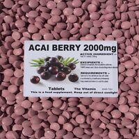 Acai Berry 2000mg 365 Tab's  Weight Loss:Kick of Energy