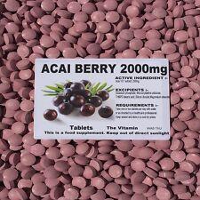 Acai Berry 2000mg 365 SCHEDA della perdita di peso: KICK dell' energia