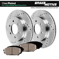 Front Drill Slot Brake Rotors Ceramic Pads For 2005 2006 Chevy Silverado Sierra