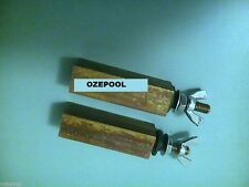 Ionizer Electrodes Replacement/pair, suit AQUAMATIC and POOLFRESH, copper/silver
