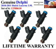 Set of 6 Genuine Delphi Fuel Injectors For 2010-2011 Buick Lucerne 3.9L