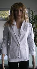 Blazer Blouson Jacke Maritim gestreift Weiß/Blau Größe M v. Madonna *NEUWERTIG*