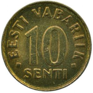 COIN / ESTONIA / EESTI VABARIIK 10 SENTI 1998       #WT27630