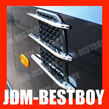 UNIVERSAL Euro Style CHROME Grill Body Side Vent Decals scoop Air VIP Fender