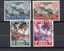 Somalia AFIS, 1954, Convenzione per i lebbrosari (serie cpl 4 val), usati