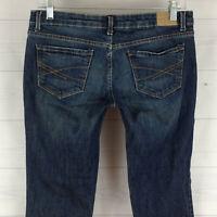 Aeropostale Ashley womens 7/8 short stretch blue dark wash ultra skinny jeans